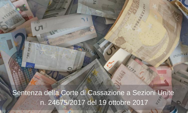 Studio Legale Rondinelli - Usura sopravvenuta - Sentenza Cassazione Sez. Unite n. 24675/2017